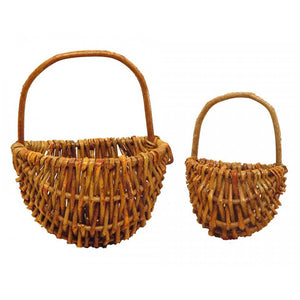 wall baskets coconeh rustic dark wicker