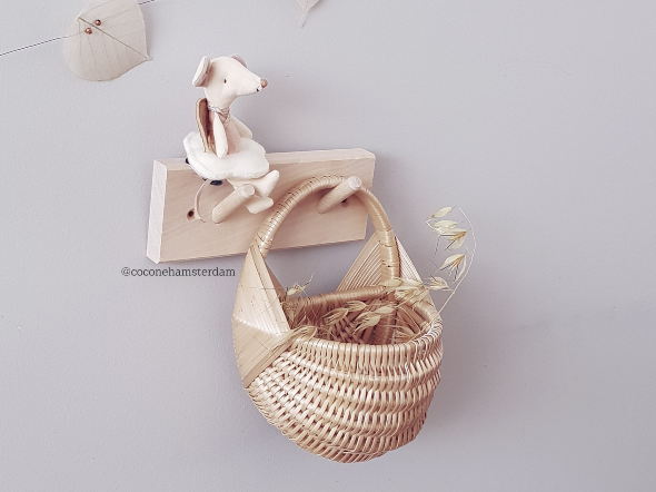 Wall Wicker Basket Petite