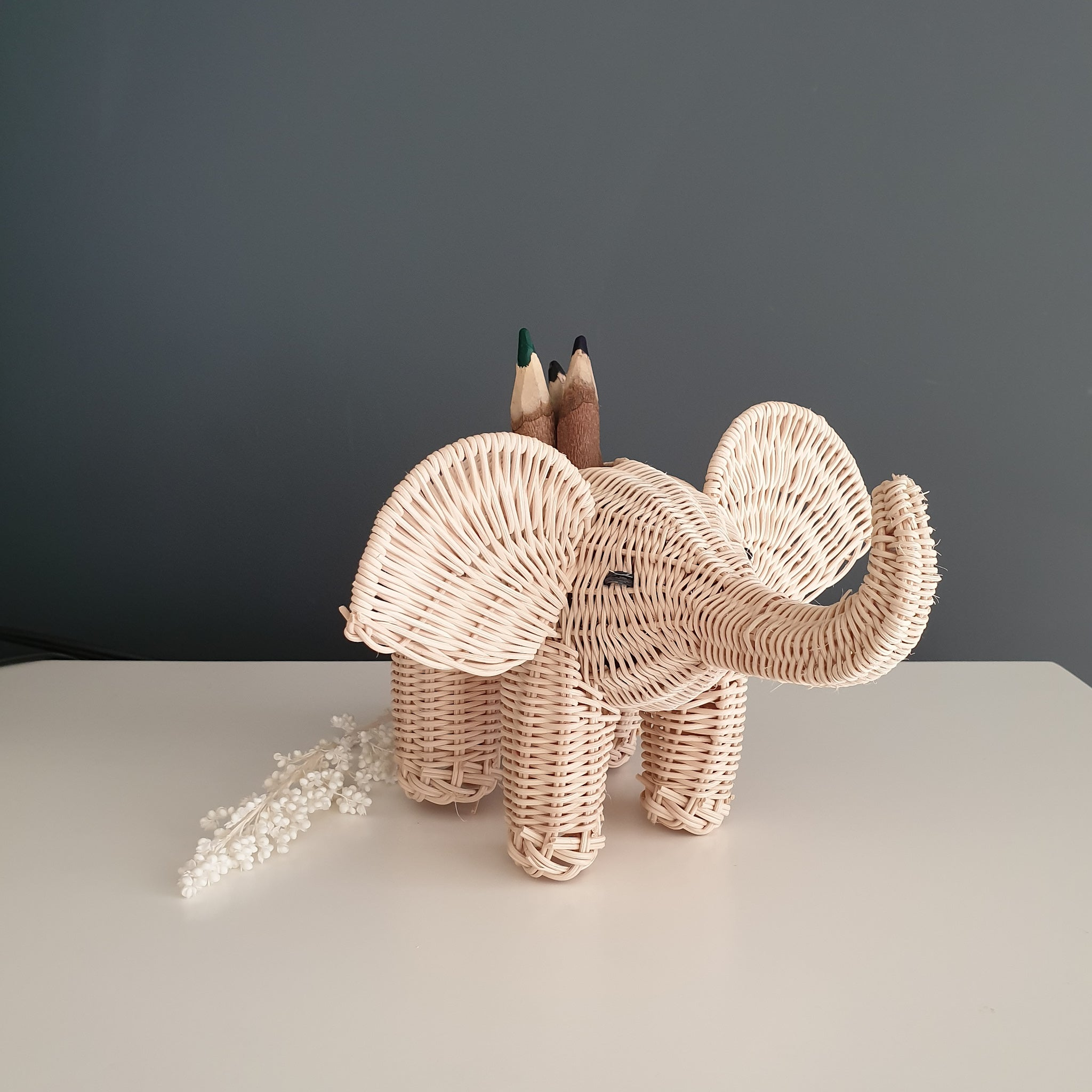 pencil holder elephant for kids decoration made in mexico
