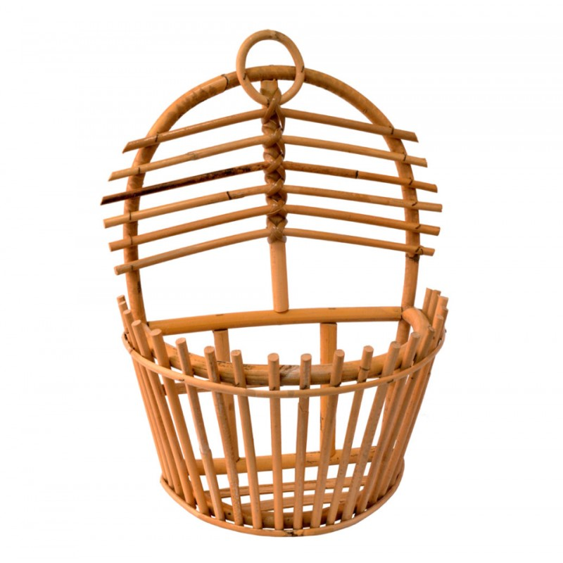 wall basket organizer from cane coconeh