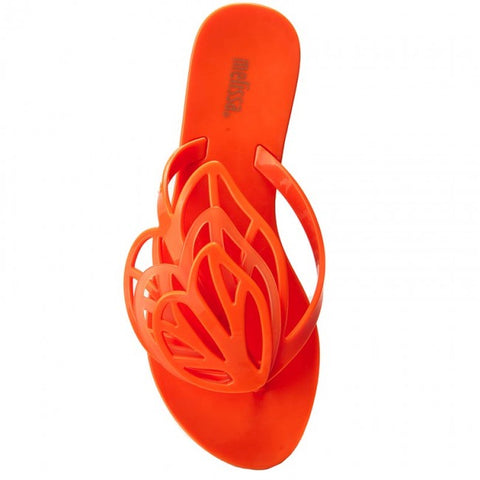 "Mel By Melissa ""New Fly"" Flip Flop Orange"