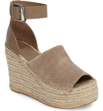 "Marc Fisher ""Adalyne"" Espadrille Wedge Sandal Taupe"