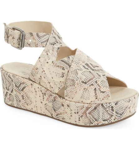 "Amuse Society by Matisse Women's ""Runaway"" Wedge Sandal Natural Snake"