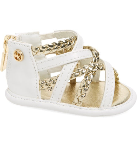 "Michael by Michael Kors ""Baby Amy"" Sandal White/Gold"