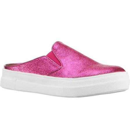 "Nina ""Gail"" Sneaker Mule Pink Metallic Crackle"