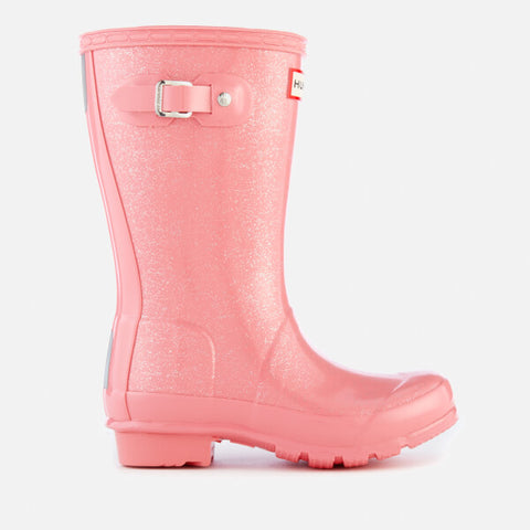 "Hunter Juniors ""Original"" Glitter Wellington Boots Panther Pink"