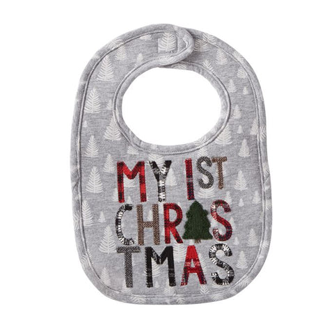 "Mud Pie ""My 1st Christmas"" Baby Bib"