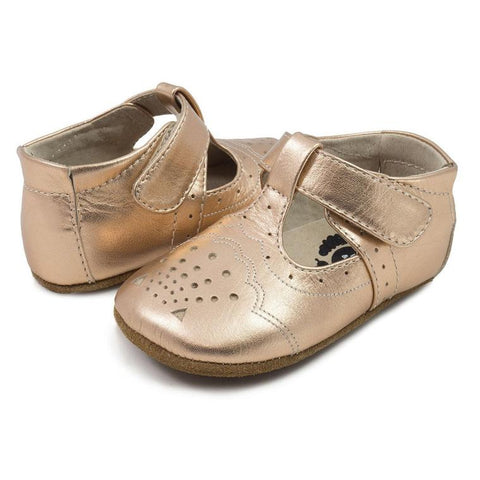 "Livie & Luca ""Cora"" Mary Jane Rose Gold Metallic"