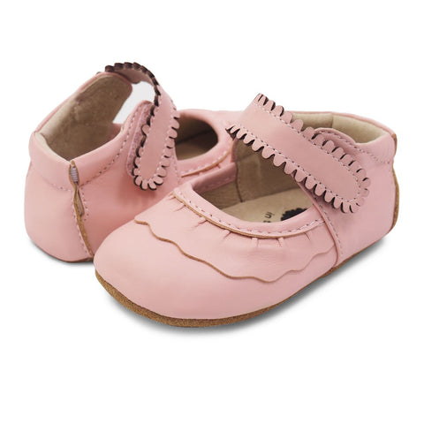 "Livie & Luca ""Ruche"" Mary Jane Shell Pink"