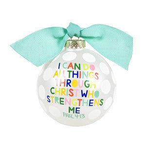 "Coton Colors ""I Can Do All Things Through Christ"" Ornament"