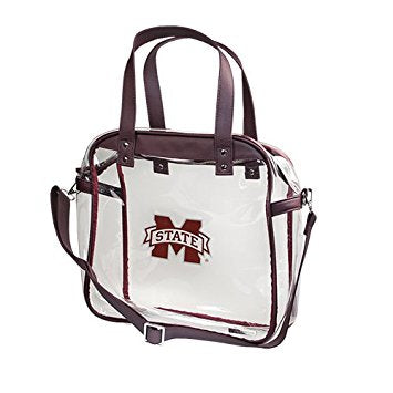"Capri Designs ""MSU"" Clear Carryall Tote"
