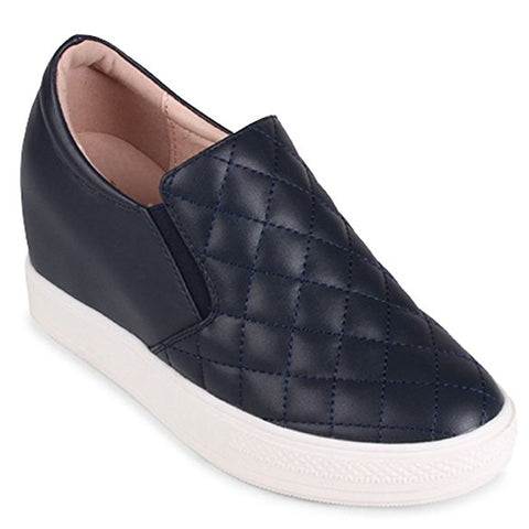 "Wanted Women's ""Bushkill"" Wedge Slip-On Sneakers Black"