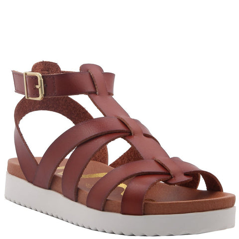 "Nina ""Alpha"" Gladiator Sandal Tan Tumble"