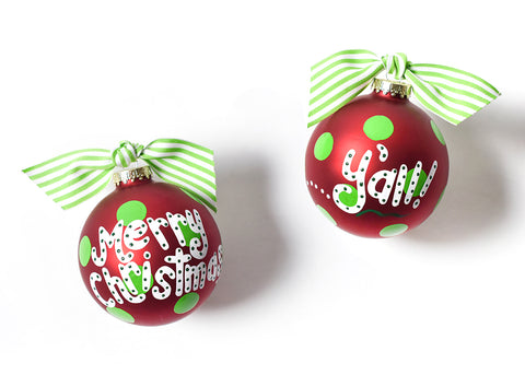 "Coton Colors ""Merry Christmas Y'all"" Ornament"