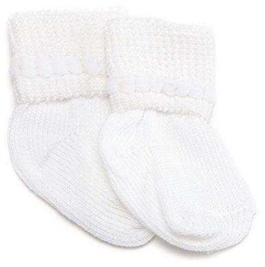 "Jefferies ""Bubble Bootie"" 2-Pack Socks White"