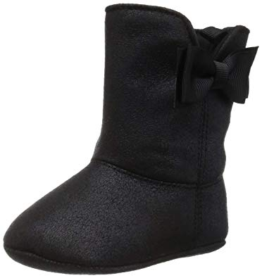 Baby Deer Black Shimmer Boot