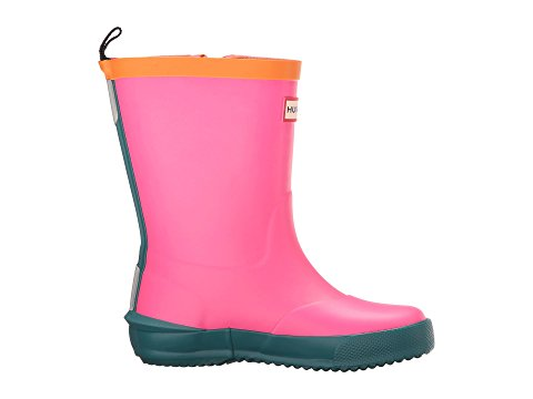 "Hunter Kids ""Davison"" Rain Boots Ion Pink/Horizon/Comet Orange"