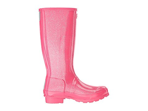 "Hunter Juniors ""Original"" Glitter Wellington Boots Mosse Pink"