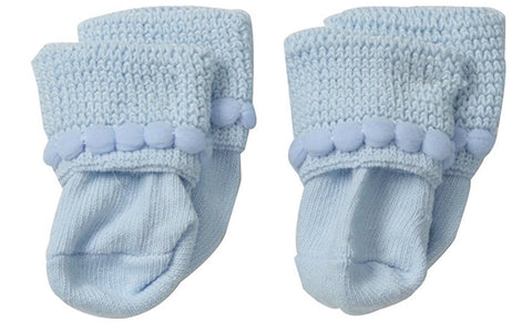 "Jefferies ""Bubble Bootie"" 2-Pack Socks Blue"