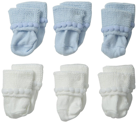 "Jefferies ""Rock-A-Bye"" 6-Pack Socks White/Blue"