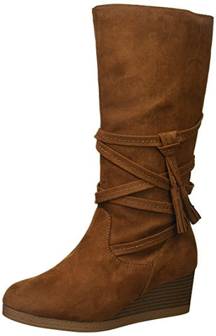 "Rampage Kids ""Evelyn"" Wedge Boot Chestnut"