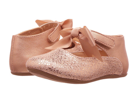 Baby Deer Ballet Flat with Bow Rose Gold