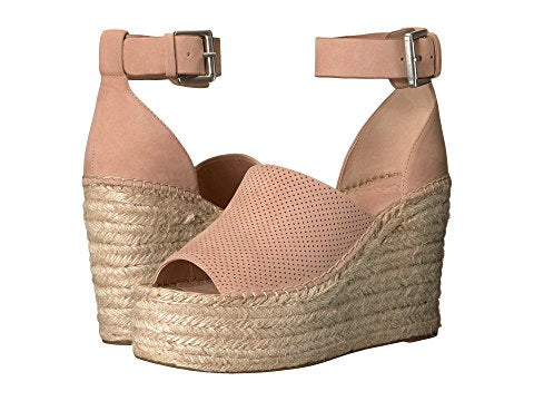 "Marc Fisher ""Adalyne"" Espadrille Wedge Sandal Light Pink"