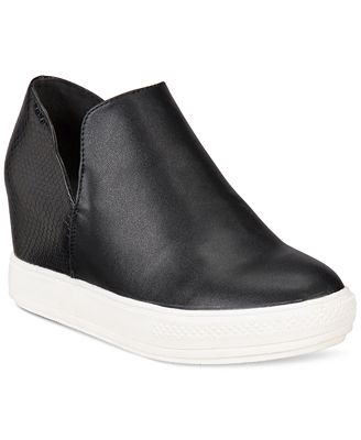 "Wanted Women's ""Adiron"" Platform Wedge Sneakers Black"