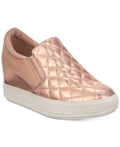 "Wanted Women's ""Bushkill"" Wedge Slip-On Sneakers Rose Gold"
