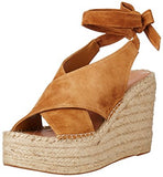"Marc Fisher ""Andira"" Platform Wedge Sandal Cognac"