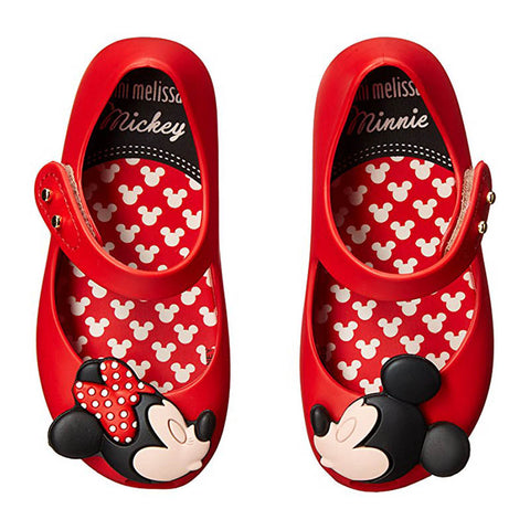"Mini Melissa ""Ultragirl + Disney Mickey/Minnie"" Mary Jane Red"