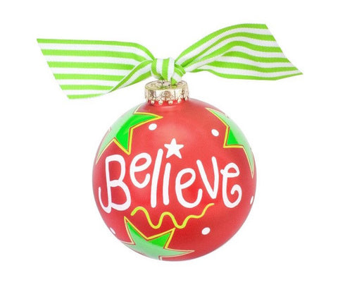 "Cotton Colors ""Believe"" Ornament"