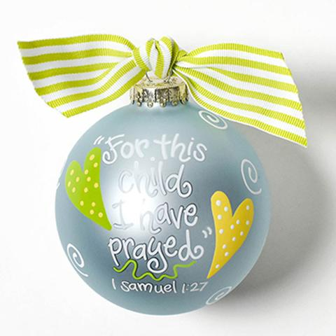 "Coton Colors ""For This Child"" Blue Ornament"