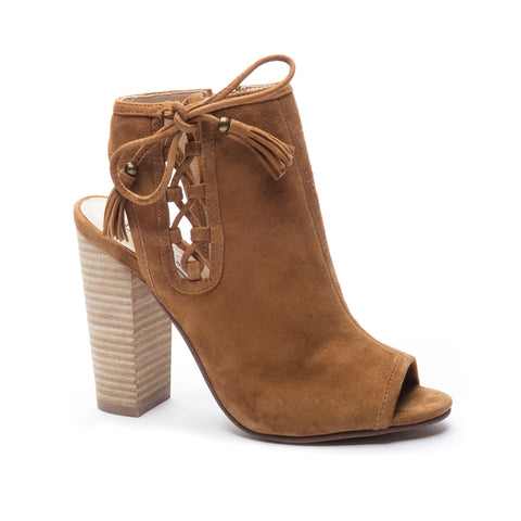 "Chinese Laundry Women's ""Legend"" Peep-Toe Bootie Caramel"