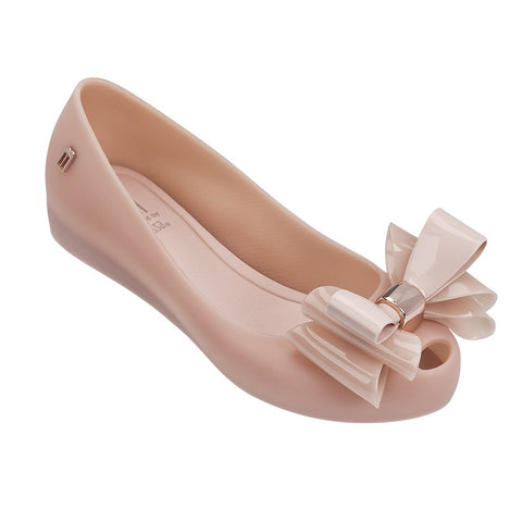 "Mel By Melissa ""Ultragirl Sweet II"" Peep-Toe Flat Light Pink"