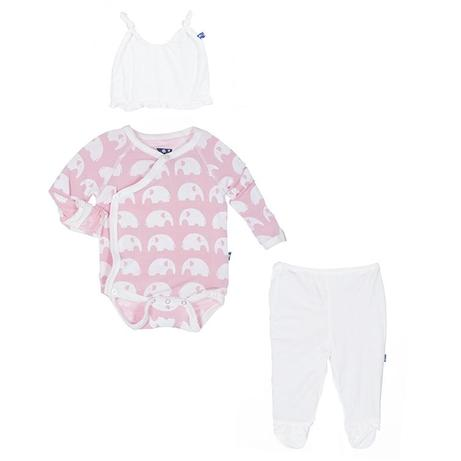 "KicKee Pants ""Newborn Gift Set"" Pink Elephant"