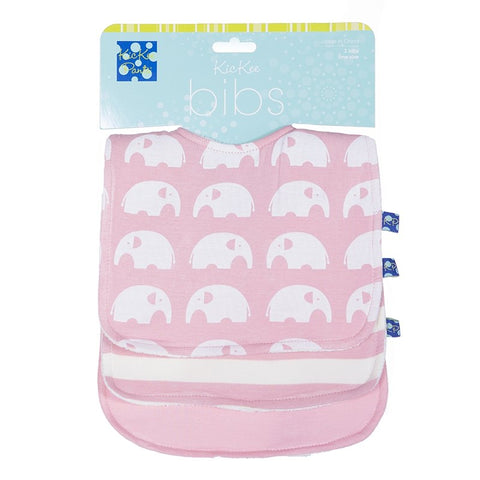 "KicKee Pants ""Essentials Bib Set (Set of 3)"" Pink"