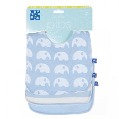 "KicKee Pants ""Essential Bib Set (Set of 3)"" Blue"