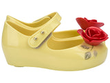 "Mini Melissa ""Ultragirl + Beauty and the Beast Enchanted Rose"" Mary Jane Yellow"