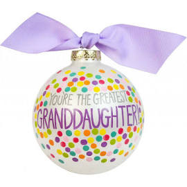 "Coton Colors ""You're The Greatest Granddaughter"" Ornament"