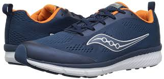 "Saucony ""SY-B Ideal"" Sneaker Navy/Orange"