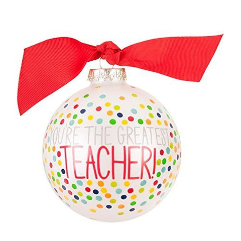 "Coton Colors ""You're The Greatest Teacher"" Ornament"