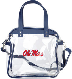 "Capri Designs ""Ole Miss"" Clear Carryall Tote"