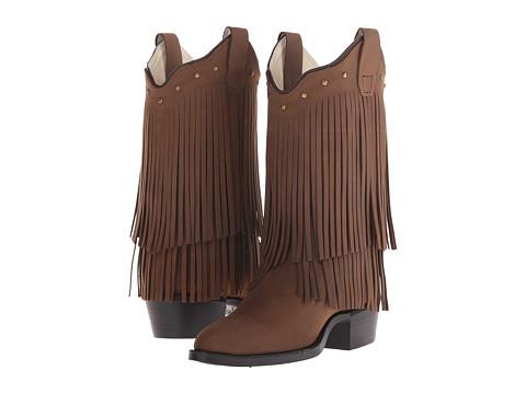 "Old West ""8125"" Fringe Western Boot Brown"