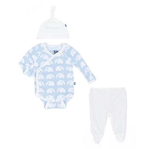 "KicKee Pants ""Newborn Gift Set"" Blue Elephant"