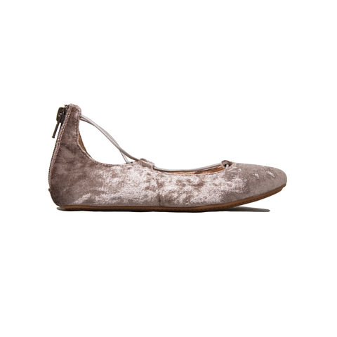 "Yosi Samra ""Miss Shelly"" Mink Crushed Velvet Ballet Flat"