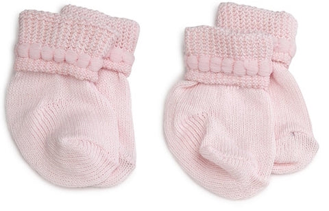 "Jefferies ""Bubble Bootie"" 2-Pack Socks Pink"