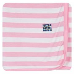 "KicKee Pants ""Essential Swaddling Blanket"" Pink Stripe"