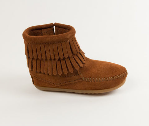 "Minnetonka ""Double Fringe"" Boots Brown"