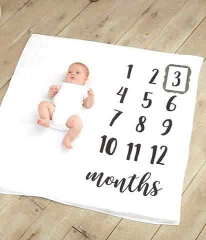 "Mud Pie Baby ""Monthly Milestone"" Photo Blanket"